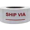 "Ship Via Shipping Labels/Warehouse Lables, 500pcs/Roll, 2"" x 3"" - White"