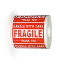 "2"" x 3"" Fragile/Handle with Care/Thank You, Label, 500/Roll"
