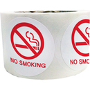 1.5 Inch Round NO SMOKING Stickers, 500 stickers/Roll