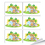 "Officeship Animal Stickers, 3""x 4"", 6 pcs/Sheet"