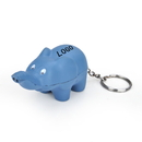Customized Elephant Key Chain Stress Ball