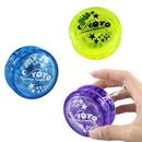 Custom Printed Clear Plastic Yo-Yo, 2 1/4
