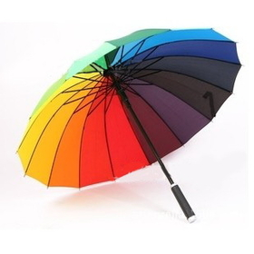 Custom Rainbow Umbrella with Logo, Price/Piece