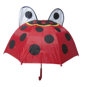 Promotional Pretty Ladybird Animal Umbrella, Red/Black Color, Price/Piece