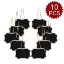 Aspire Set of 10 Mini Hanging Chalkboard Signs with Sling for Table Top Numbers,Message Board Signs