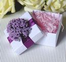 "Blank Elegant Flower Wedding Favor White Box with Tag, 2.56""L*2.56""W*1.58""H"