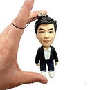 Custom Mini Bobblehead Dolls with Key Ring or Lanyard, 4