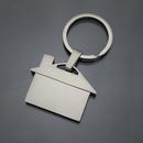 Custom House Shaped Keychain, Silk Printed, 1 9/10
