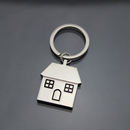 Custom House Metal Keychain, Silk Printed, 1 5/10