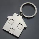 Custom House Metal Keychains, Silk Printed, 1 8/10