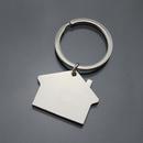 Custom House Shaped Keychain, Silk Printed, 1 6/10