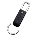 Custom Leatherette Metal Key Chain, Hot Stamping or Embossing