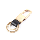 Custom Zinc Brass Metal Key Chain W/ 2 Detachable Rings, Laser Engraved