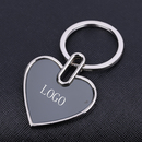 Custom Heart Shaped Keychain in Polished Chrome Finish, 1.75