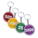 Custom Solid Color Poker Chip Keychain, Decal Imprint, 1.6