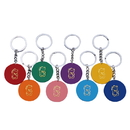 Custom Solid Color Casino Poker Chip Keychain, Hot Stamped, 1.6
