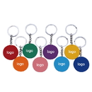 Custom Solid Color Casino Poker Chip Keychain, Screen Printed, 1.6