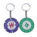 Custom Small Ceramic Casino Poker Chip Keychain, 1.5