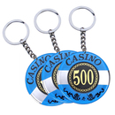 Custom Acrylic Casino Poker Chip Keychain, Hot Stamped, 1.6