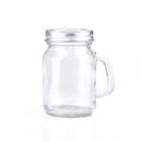 Promotional 3.52oz Empty Glass Jar w/ Handle, Imprint Logo on the Lid, Long leadtime