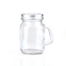 Blank 3.52oz Empty Glass Mason Jar w/ Handle