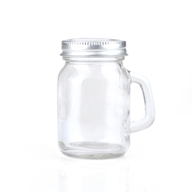 Blank 3.52oz Empty Glass Mason Jar w/ Handle, Price/Piece
