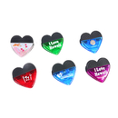 Custom Heart Shaped Magnetic Memo Clip, 2 3/4