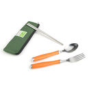 Custom Spoon Chopsticks Fork Set with Plastic Handle, 8 1/2