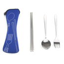 Blank 3-Piece Traveling Flatware Set with Neoprene Bag, 8