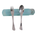 Blank Stainless Steel Camping/Travelling Flatware Set with Pull-Out Box, 8