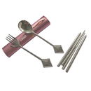 Custom Spoon Chopsticks Fork Set with Heart/Club/Diamond Shaped Handle, 8 1/2