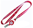 Custom Lanyards with Badge Reel, Silk Screen Method