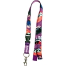 Custom Polyester Velcro & Detachable Buckle Lanyard, 5/8