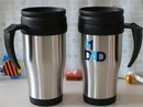 16 Oz./450 Ml. Double Wall Stainless Steel Personalized Travel Mugs, 6-3/4