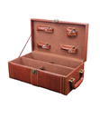 Blank Double Wine Bottle Case with 4 Pieces Wine Accessories, Leather Case, Long Leadtime