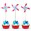 """Dot Pinwheel Cocktail Picks, Cupcake Toppers, 10Pcs/Pack, 5"""" L"""