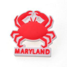 "Plastic Maryland Crab Stock State Lapel Pins, 1"", Price/Piece"
