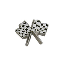 "Stock Checkered Flags Lapel Pins, 1"" L x 3/4"" W"
