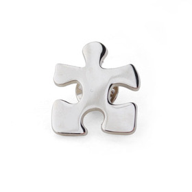 "Crucial Puzzle Piece Stock Lapel Pins, 1"" L x 7/8"" W, Price/Piece"