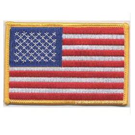 "High Quality Embroidered National Emblems, 1.2""x0.8"", Price/Piece"