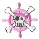 Promotional Embroidered Human Skeleton Appliques, 1.2""