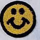 Custom Embroidered Smile Face Appliques, 1.2""