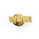 Stock Cast Motivational Lapel Pins - Wow, 1""