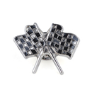 "Stock Checkered Flags Lapel Pins, 25PCS/Pack, 1"" L x 3/4"" W"