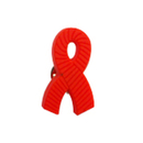 Aids Grosgrain Awareness Ribbon Stock Lapel Pins, Up to 1""
