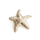 Stock 3D Cast Silver Starfish Lapel Pins, 25PCS/Pack, 3/4""