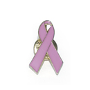 "Purple Awareness Ribbon Stock Lapel Pins, 1"" H x 9/16"" W"