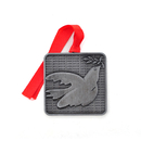 3D Cast Stock Solid Pewter Dove Ornaments, 1.75""