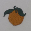 Embroidered Stock Mini Peach Stick-on Appliques, 2.5