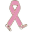 Breast Cancer Walk Ribbon Pin, One Size